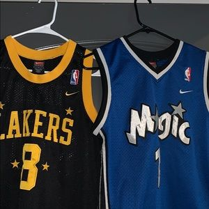 Vintage Kobe & Mcgrady youth jersey's bundle